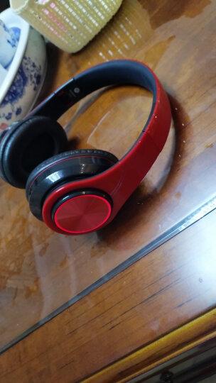 奇联 BH3 耳机头戴式蓝牙无线降噪音乐游戏手机电脑运动跑步耳麦苹果华为小米通用 黑红色 晒单图
