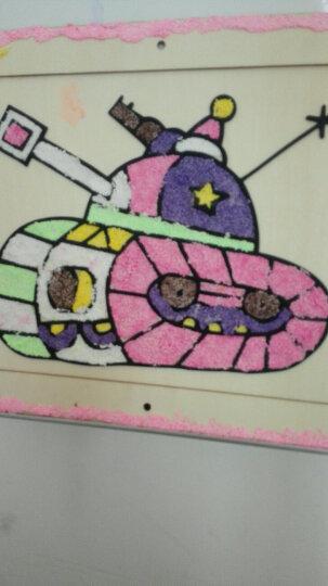 大圣 雪花珍珠泥粘土木板画 儿童手工画diy橡皮泥涂鸦画板艺术启蒙 木框装饰画 儿童绘画工 单个图案随机(可备注男女孩) 晒单图