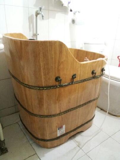 悦己坊 木桶浴桶成人浴缸橡木泡澡桶浴盆澡盆实木养生家用小户型洗澡桶浴缸 80cmX58cmX78cm 晒单图