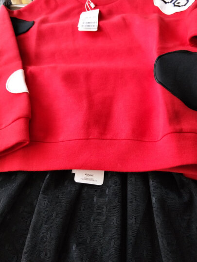 【春】爱法贝童装2018新款女童春季卫衣外套 大红 110 晒单图