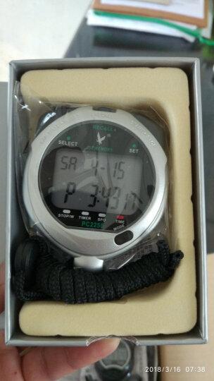 天福专业多功能秒表计时器闹钟田径比赛 户外运动跑步训练游泳电子记忆计时秒表双排10道PC2210 晒单图