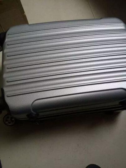 行李箱登机箱箱子旅行箱包万向轮拉杆箱20英寸24英寸28英寸潮流款式密码箱 小清新直条喜庆红 24英寸 晒单图