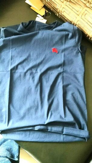 BURBERRY 巴宝莉男装 男士时尚柔棉质T恤衫 亮海军蓝色 4068591 M 晒单图