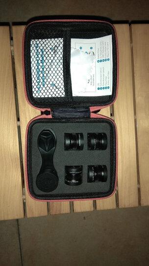逗新闻(Donews) 手机镜头8倍长焦望眼镜四合一广角鱼眼微距外置手机摄像头苹果通用 12倍长焦红+三合一黑 晒单图
