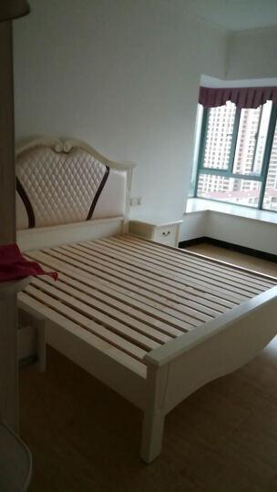 林中漫步 实木床 双人床 高箱储物床 1.8米简欧白色田园婚床 床+床垫+2个床头柜(套餐五) 1800mm*2000mm(简易框架) 晒单图