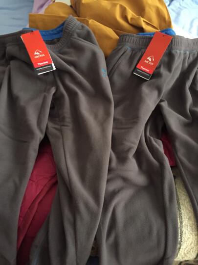 极星户外男女秋冬防风保暖运动抓绒长裤AGPA21266 男-灰色 XXL 晒单图