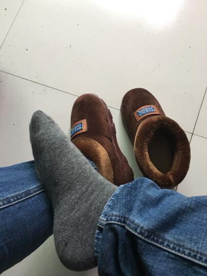 芷间 棉拖鞋男士大码包跟厚底冬季保暖加绒居家室内新品中老年爸爸高帮棉鞋 黄色 44-45(适合41/42的脚) 晒单图