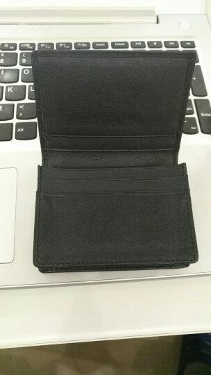 豪爵袋鼠 名片夹男士 卡包卡套包皮卡夹商务卡套卡包银行卡套1414 黑色有LOGO 晒单图