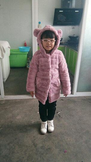 童装女童外套冬装2017新款韩版毛毛衣外套百搭儿童中长款上衣韩版潮 粉色毛毛衣 130 晒单图