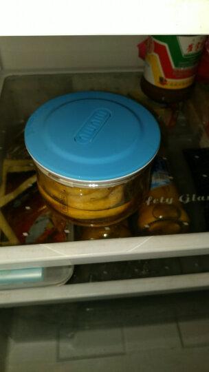 百拓牛牛 万物储物罐 优雅透明玻璃密封罐奶粉食品零食大容量厨房收纳套装 珊瑚粉小号NNGC401-SH 晒单图