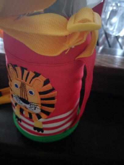 木吉乇(mojito) 木吉乇儿童卡通保温杯吸管直饮两用杯 学生男女宝宝背带水壶不锈钢学饮杯 长颈鹿 晒单图
