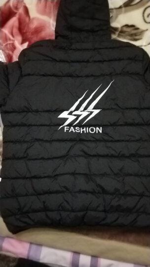 (拍下139)羽绒服男短款2017冬季新潮韩版连帽两面反穿加厚男士迷彩羽绒服外套 黑色 XL 晒单图