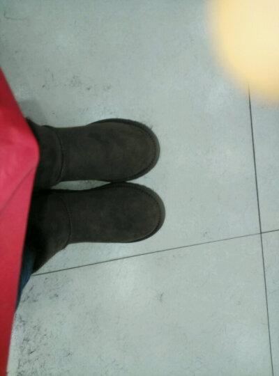DELIUGG  羊皮毛一体雪地靴女秋冬新款女靴经典蝴蝶结平底防滑短筒保暖女鞋 咖色 37 晒单图