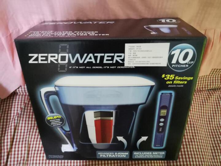 ZEROWATER 零水净水壶 净水器家用直饮厨房自来水过滤器十杯蓝色经典款ZP-010 二盒净水壶滤芯(4只装) 晒单图