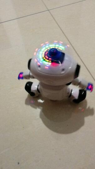 劲风旋舞者儿童机器人会唱歌跳舞旋转舞蹈灯光音乐电动智能玩具 白色 晒单图