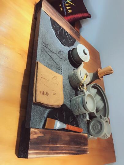 陶明堂 功夫茶具自动套装粗陶石鼓茶漏配件雕龙茶壶盖碗公道杯茶杯茶洗茶道六君子全家福 粗陶石鼓茶具整套14件套 晒单图
