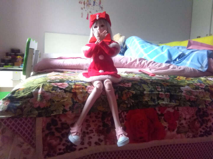 60cm娃娃衣服洋娃娃衣服改妆配件服饰BJD/sd娃娃换装适用婚纱礼服三分娃娃服饰 新年衣服-吉祥 晒单图