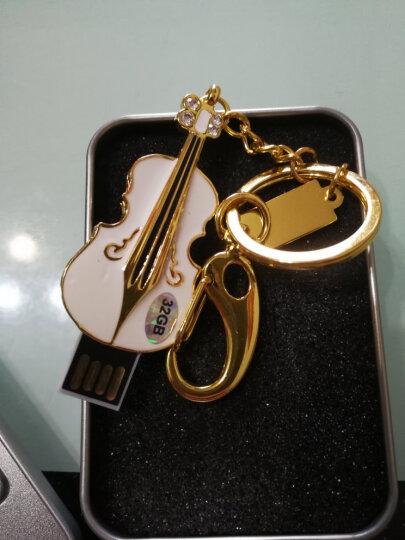 初忆(CHUYI)U盘8GB16GB32GB64GB USB2.0小提琴黄色(金属外观 商务创意) 白色金底 32GB 晒单图