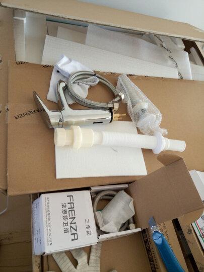 法恩莎浴室柜80公分现代简约悬挂式卫生间洗漱台洗手盆柜组合套装FPG3616F/C 【含普通龙头+配件】 晒单图