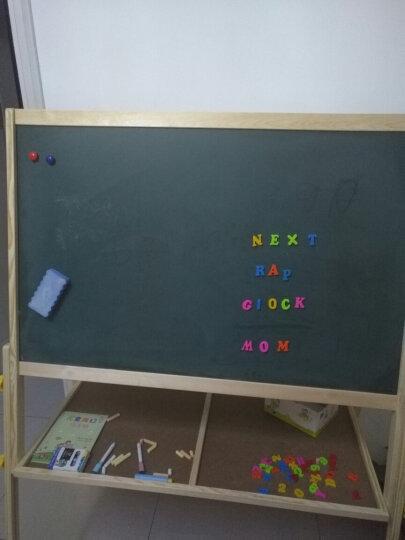 得力(deli) 33056 实木可升降615*1320mm双面磁性多功能学生白板 儿童画板画架 粉笔绿板(尺寸不含边框) 晒单图