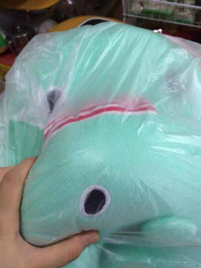 爱满屋 卡通U型颈枕 腰枕 减压 两件套 毛绒玩具 礼品 U型枕+腰靠轻松熊 约28-53厘米 晒单图