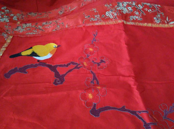 床品套件 纯棉贡缎提花婚庆四件套 全棉新婚绣花大红色结婚龙凤床上用品 龙凤成双四件套 2.0米床(适用被芯220*240cm) 晒单图