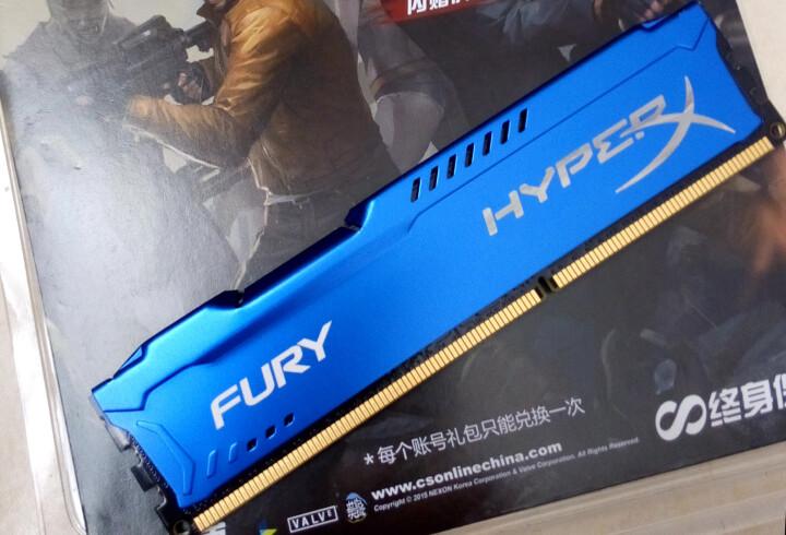 金士顿(Kingston) 8GB(4G×2)套装 DDR3 1600 台式机内存 骇客神条 Fury雷电系列 蓝色 晒单图