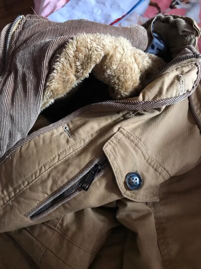 豹尼 棉衣男青少年冬季款加绒中长款外套男士修身韩版棉袄连帽棉服男装中老年大码棉大衣 土黄色 XL 晒单图