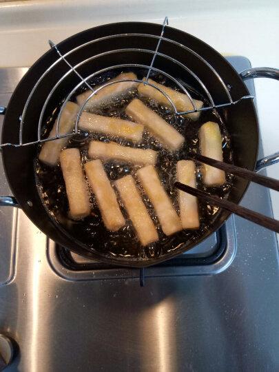 朵颐 日式双耳油炸锅家用厨房烹饪系列炸锅 天妇罗油炸专用锅 郁金香油炸锅24cm 晒单图