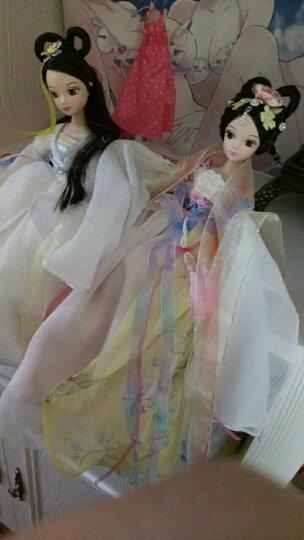 可儿娃娃古装10关节体芭比娃娃七仙女公主中国古代传说洋娃娃套装玩具女孩 绿衣仙子+支架+鞋子 晒单图