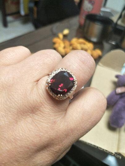6克拉宝石戒指女款潮流韩版人工红水晶食指装饰指环夸张镀金饰品时尚生日生日礼物送女友 指圈20号内直径20MM 晒单图