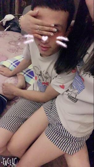 pinkdackeb 情侣睡衣女夏季男士短袖卡通宽松家居服套装 女款浅灰色 女款M(推荐85-120斤穿) 晒单图