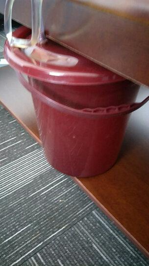 加厚家用单位茶叶桶茶具茶水桶茶叶桶 垃圾茶渣桶茶桶排水塑料功夫分离倒废漏冲台海盘 大号圆形茶叶桶 晒单图