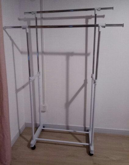 溢彩年华 双杆伸缩晾衣架 落地移动挂衣架阳台可升降晾晒架 YCC1501 晒单图