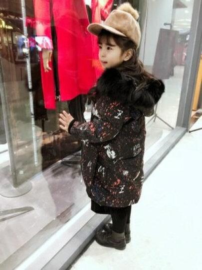 玛古芭(MAGUBA) 品牌童装女童羽绒服中长款冬装新款韩国加厚女大童儿童装公主冬季外套 黑色 150cm 晒单图