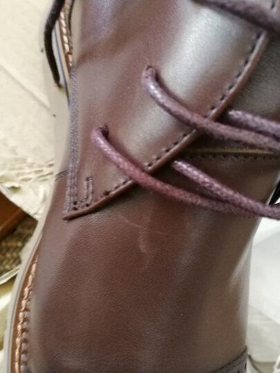 Tata/他她男鞋牛皮绑带平底时尚加绒保暖短靴休闲靴子男QQU46DD6 棕色(皮里) 39 晒单图