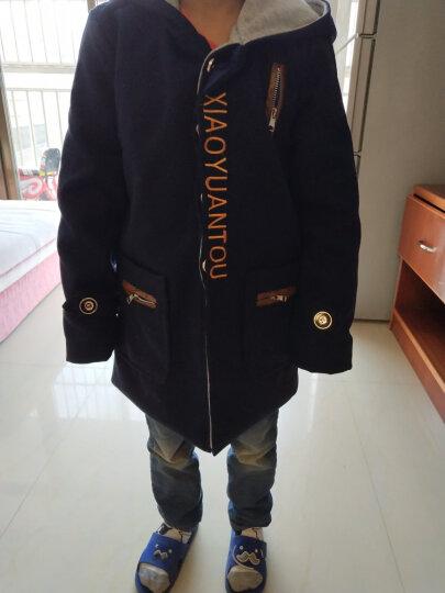 乔治少爷(GRADYBOY) 男童外套冬装秋冬男童呢子呢大衣儿童上衣中大童外衣男孩子外套 8026藏青色 130(适合身高125CM-130CM) 晒单图