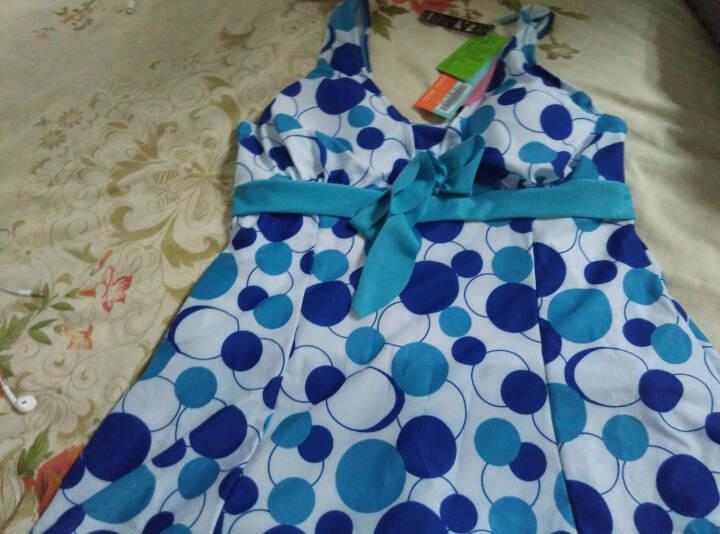 海波特(SEA'BBOT) 海波特泳衣 加肥加大码大小胸聚拢时尚修身显瘦遮肚连体裙式女泳衣泡温泉泳装 蓝圈 5XL 晒单图