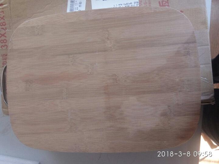 凯洛格 切菜板实木砧板家用竹案板面板大号长方形刀板耐用特厚 特厚不锈钢包边45*32*3.4cm 晒单图