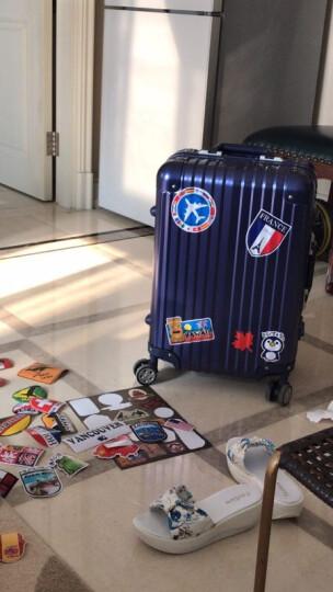 复古世界地标拉杆箱子旅行箱行李箱贴纸男女防水笔记本电脑死飞滑板机车吉他钢琴贴画贝光3 晒单图