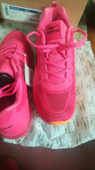 鸿星尔克ERKE跑鞋新款情侣款全掌气垫减震运动慢跑鞋女款52116120028三角梅红40码 晒单图