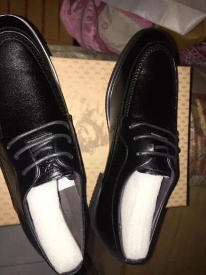 七匹狼(SEPTWOLVES) 男鞋男士商务休闲鞋正装鞋系带皮鞋男 黑色 41 晒单图