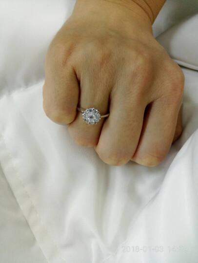 LOVING/爱在此时 2克拉效果钻戒结婚求婚戒指钻石女戒 可定制铂金款 触电生日告白礼物 11# 晒单图