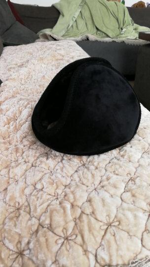 百恩思护耳套 耳朵套 耳包 毛毛绒耳罩 男士冬季后戴式保暖耳捂 黑色超柔(送黑色超柔) 晒单图