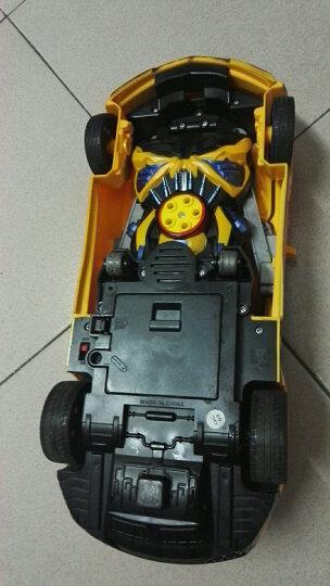 4.9万+评价德馨1:12大尺寸儿童遥控车一键变形机器人玩具车充电模型汽车人 男孩赛车生日礼物节日 二代1比12经典黄蜂 晒单图