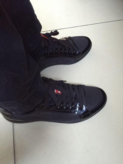 PRADA 普拉达 男士NYLON SPAZZOLA系列黑色牛皮配尼龙休闲鞋 4E2439 3OUU F0002 6/40码 晒单图