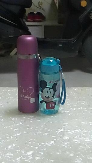 迪士尼塑料杯 夏季儿童旅行便携吸管水杯子 米奇蓝400ML 晒单图