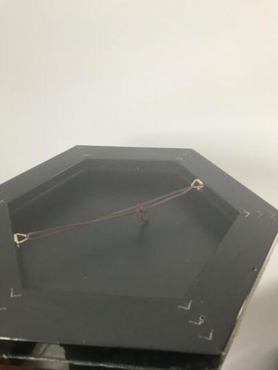 慕白 六边形现代简约装饰画创意个性可爱动物客厅卧室儿童房挂画 E 眯眼熊 金色框(外尺寸66x57cm) 晒单图