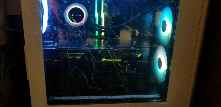 追风者(PHANTEKS) 416P白色 中塔ATX侧透RGB水冷机箱(RGB呼吸灯控/配2把风扇/280水冷/防尘/背线/SSD) 晒单图