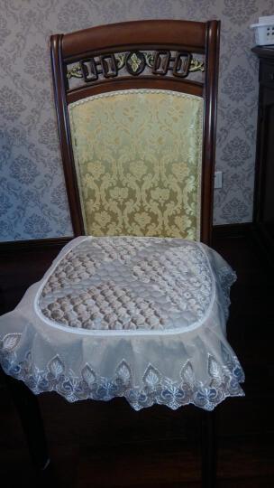 辛一中餐椅垫加厚 椅子垫坐垫 办公室椅垫 学生凳子垫座垫 丝绒提花浅咖色 43x47cm 晒单图